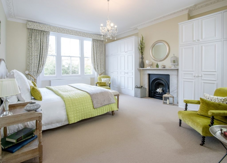 The master bedroom is breathtaking, spacious and exquisitely decorated.