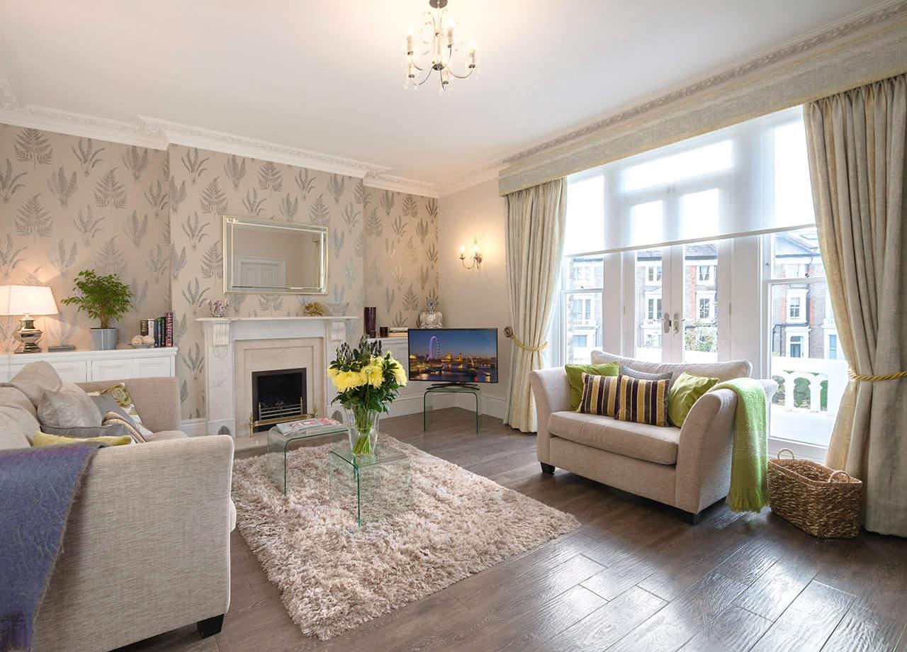 The wonderfully designed, European-style lounge